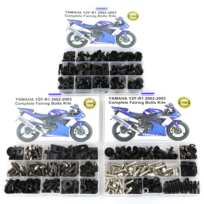 For <font><b>Yamaha</b></font> YZF-<font><b>R1</b></font> <font><b>R1</b></font> 2002 <font><b>2003</b></font> Motorcycle Full <font><b>Fairing</b></font> Bolts Kit Bodywork Screw <font><b>Fairing</b></font> Clips Steel Kit Set image