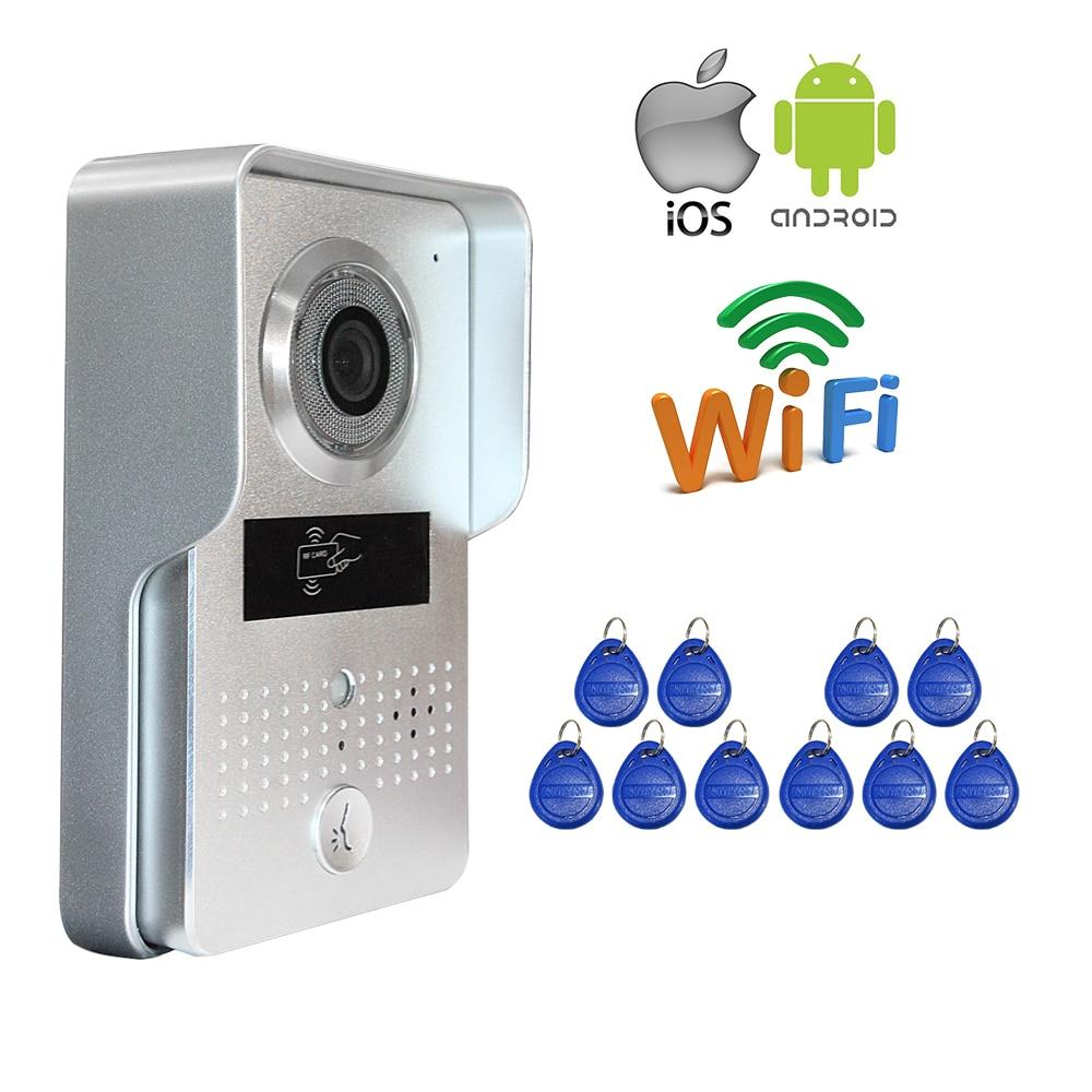 цена Free Shipping New Wireless POE Wifi IP Doorbell Camera + RFID card Access Unlock Video Door Phone Intercom Waterproof  Wholesale онлайн в 2017 году
