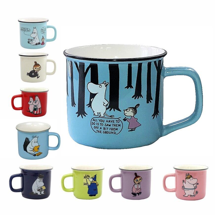 9 Styles Moomin Caneca Little My Lovely Gift Coffee Cups Milk Water Breakfast Copo Tea Cute Cartoon Sweet Love Teacup Travel Mug zwbra shower curtain