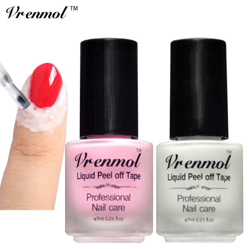 Vrenmol 1pcs Finger Skin Protected Glue L Off Liquid Nail Art Latex Tape Base Coat Care Palisade Cuticle Cream In Gel From Beauty Health