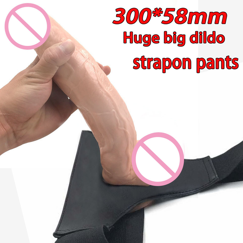 Lesbian strapless strapon dildo panties super long big dildo realistic huge dildos for women strap on realistic penis dick strapon long dildo 2 1inch big huge dildos for womenrealistic dildo adult sex toys for woman realistic penis lesbian