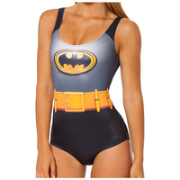 Frauen Badeanzug Ein Stück 2018 Sommer Badebekleidungsfrau Bikini Push Up Jumpsuit Weste Badestrand Badende Batman Cosplay Kostüm