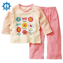 Spring Style Baby Romper 100% Cotton 6Style Kids Clothes Cute Colorful Boy Girl Clothes Set(Top+Bottom)Romper Clothes 1set HB050