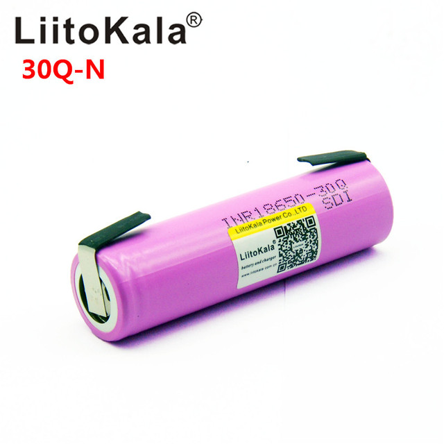 Liitokala 30Q 18650 3000mah High power discharge Rechargeable battery power high discharge,30A large current + DIY nicke 2