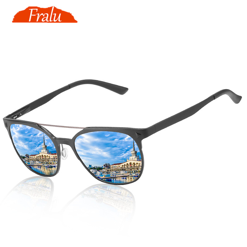 22d4cc25d080 Detail Feedback Questions about FRALU Brand New Unisex Aluminum Square Men s  Polarized Mirror Sun Glasses Female Eyewears Accessories Sunglasses For Men  on ...
