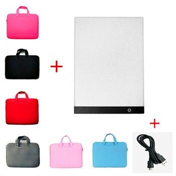 5D DIY Diamant Schilderen Tool Kit Dimbare A4 Led Light Pad + 36*27 cm Tablet Tas, diamant Borduurwerk, Diamond Schilderen Accessoires