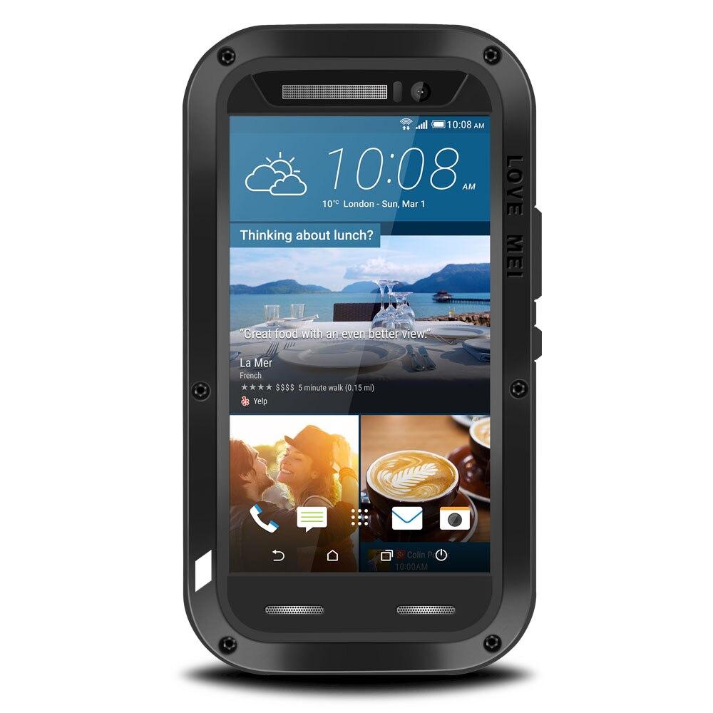 Pour HTC M10 étui de protection hybride blindé boîtier étanche Fundas boîtier étanche à l'eau/saleté/choc/pluie pour HTC M8 M9 5.0 pouces