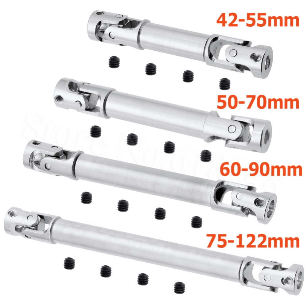 2pcs RC Metal Steel Universal Drive Shaft CVD 42-55mm 50-70mm 60-90mm 75-122mm Joint For 1/24 Remote Control Car