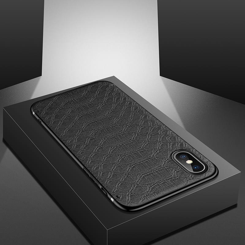 GTWIN Crocodile Texture Phone Shell With Magnetic for iPhone Models 3
