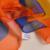 Invierno de Las Señoras de Naranja Azul Bufanda de Seda Accesorios Mujeres Largo Bufandas Tippet Del Mantón Nueva Marca Brillante 180*110 cm de Primavera la gasa de La Bufanda