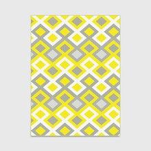 Модный коврик в скандинавском стиле с геометрическим узором и бриллиантами для двери/кухни, коврик для гостиной, спальни, прикроватной кровати, ковер, яркий желтый, серый
