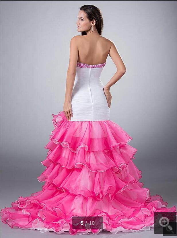 Magnífico Vestido Alto Bajo Del Baile Ideas Ornamento Elaboración ...