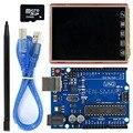 2.8 дюймов TFT LCD Экран + UNO R3 Доска с TF карты/стилус/USB кабель для Arduino UNO/Mega2560/леонардо