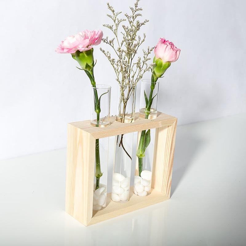 Mkono Wall Hanging Clear Gl Flower Vase Desktop Cylinder
