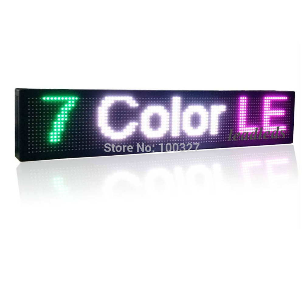 40 X 6 Inches Colorful Animated Usb Programmable Led Window Sign Full Color Moving Message Display Board
