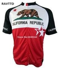 República de California Bike Ciclismo Ropa/Roupa Ciclismo Jerseys de Ciclo 100% Poliéster Transpirable Bike Jersey Ropa Deportiva