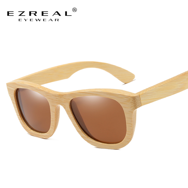63ff55babe EZREAL Natural Bamboo Wooden Sunglasses Handmade Polarized Mirror Coating Lenses  Eyewear Wood Sunglasses Polarized -EZ025