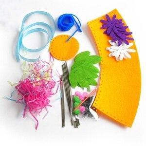Image 3 - Sáng Tạo Vải Handmade Hoa Giỏ Đựng Đồ Chơi Trẻ Em Tự Làm Thủ Công Chất Liệu Bộ Dụng Cụ Sáng Tạo Mẫu Giáo Giáo Dục Trẻ Em Bé Gái