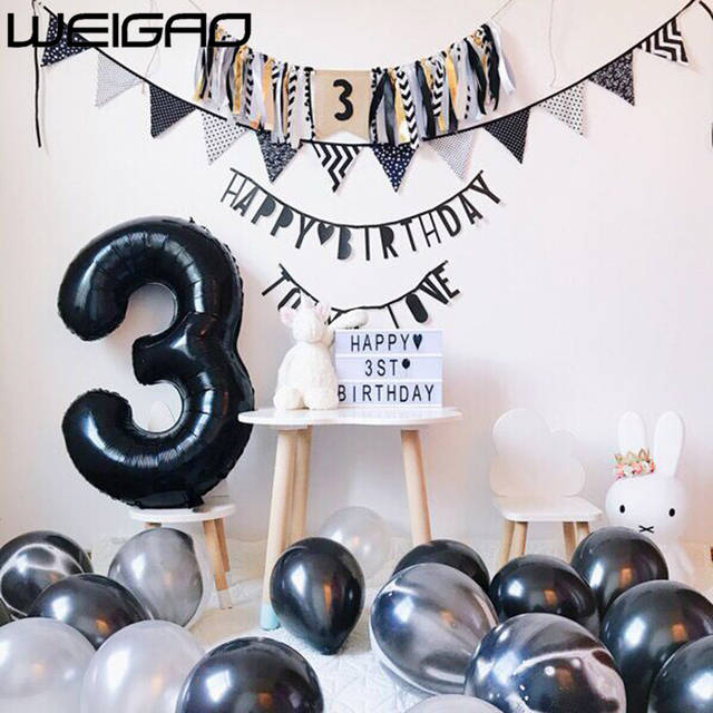 cee55f3a0b780 US $1.55 |WEIGAO Happy Birthday Decoration Banner Balloons For Adult  Birthday Party Decorations Kids Boy/Girl Baby Shower Party Supplies -in  Ballons & ...