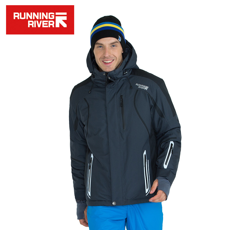 RUNNING RIVER Brand Men Hooded Ski Jacket For Winter 4 Colors 6 Sizes High Quality Outdoor Sports Jackets For Man #A6026 running river brand men hooded ski jacket for winter 4 colors 6 sizes high quality outdoor sports jackets for man a6026