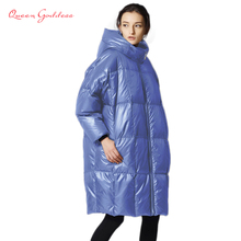 цена на Female is down jacket 2017 jacket fashion casual loose filled 90% white duck down cold weather white duck down jacket XS-7XL