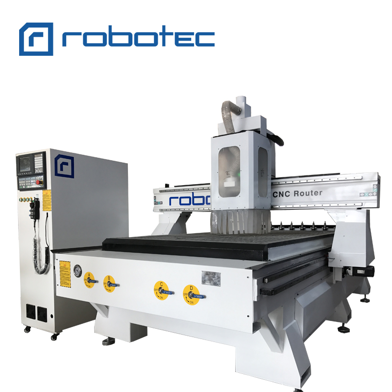 Original 8 Pcs Atc Cnc Router For Furniture/Wood Door Making Cnc Machine With Auto Tool Changer/1325 Cnc Wood Engaving Machine