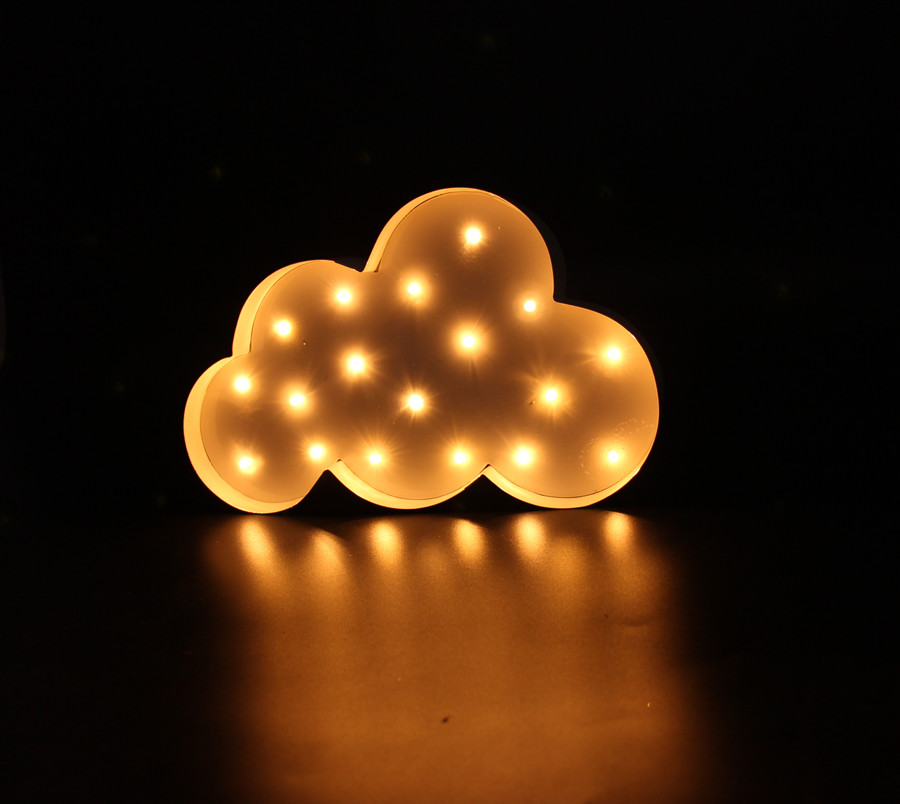White Cloud LED Marquee Sign LIGHT UP  Vintage metal night light  - Night Lights - Photo 5