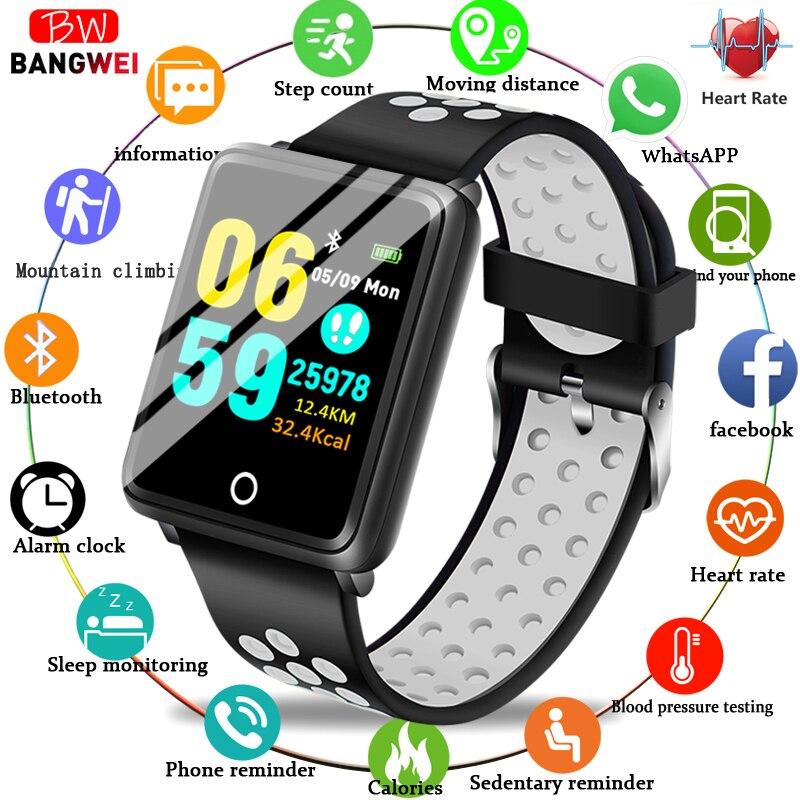 LIGE Novo Da Aptidão Relógio da Frequência Cardíaca Monitor de Pressão Arterial Inteligente Multi-Modo esporte IP67 Homens À Prova D' Água Esporte Relógio Inteligente mulheres + Caixa