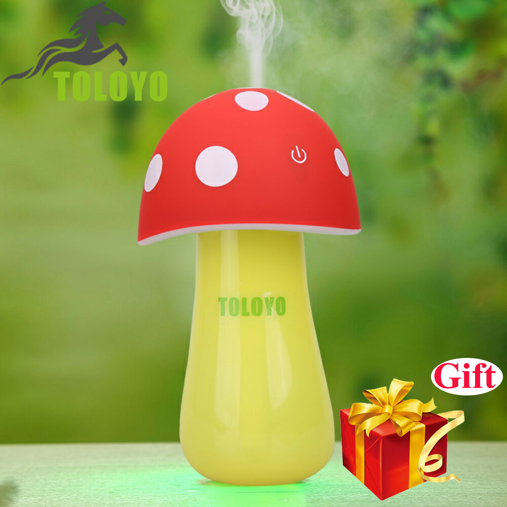 Aroma night lamps - Tly 08 Ultrasonic Cool Mist Humidifier Usb Mushroom Aroma Led Night Light Mist Discharge Cute Air Diffuser Atomizer For Home
