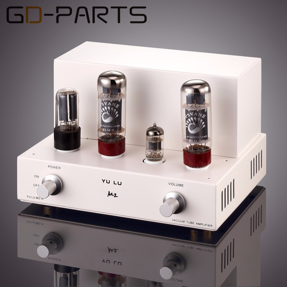 Class A Single End EL34 Tube Amplifier Hifi Audio Stereo Vintage Tube Integrated AMP Desktop Home
