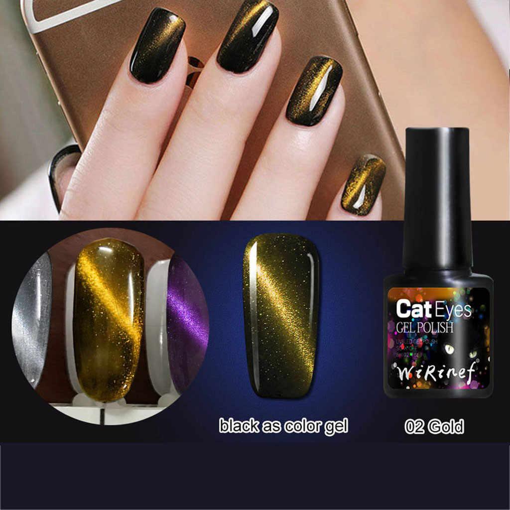 8ml 3D lakier do paznokci lakier do paznokci lakier do paznokci Soak Off magnetyczny lakier do paznokci polski Semi stałe Led UV klej ozdobne paznokcie Manicure pióro magnetyczne F