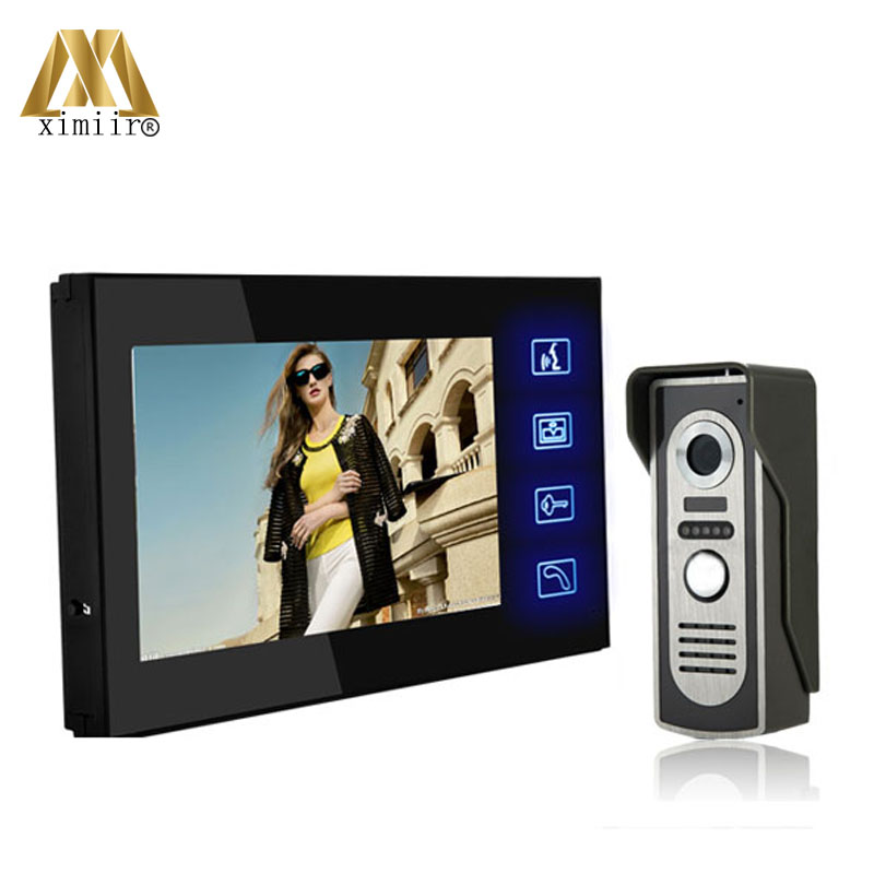 One To One Intercom System Video Door Bell Night Vision IR Camera Video Doorphone 806M11 Video Door Control System