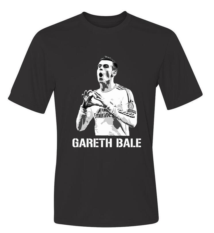 2016 Wales GARETH BALE cotton t shirt Summer Camisa O Neck Cotton Top Tees T shirt Short Sleeve Men T-shirt