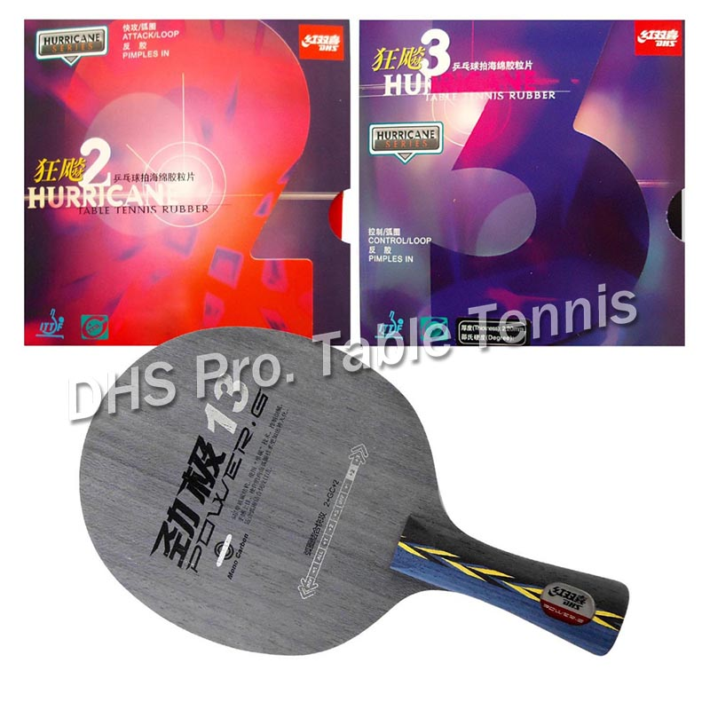 DHS POWER.G13 PG13 PG.13 PG 13 with DHS Hurricane2/ Hurricane3 Shakehand long handle FL dhs power g13 pg13 pg 13 pg 13 blade with dhs hurricane2 hurricane3 rubbers for a racket shakehandlong handle fl