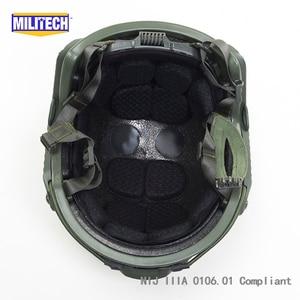 Image 5 - MILITECH Oliver Drab OD Deluxe Super High Cut Maritime NIJ level IIIA Bulletproof FAST Aramid Bullet Proof Ballistic Helmet CAG