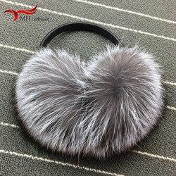 Fashion earmuffs new hot sale fox fur earmuffs warm plush earmuffs ladies solid color out must be earmuffs winter accessories 12