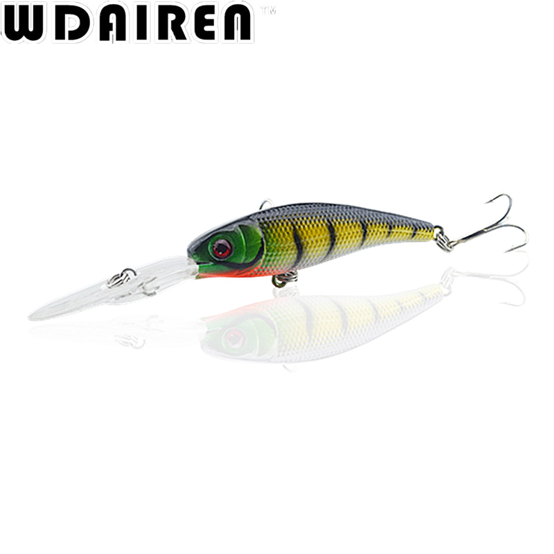 1PCS 10cm 7.8g Laser Minnow Fishing Lure Wobbler Artificial Japan Hard Fish Bait Crankbait Swimbait Pesca Tackle WD-209 tsurinoya fishing lure minnow hard bait swimbait mini fish lures crankbait fishing tackle with 2 hook 42mm 3d eyes 10 colors set
