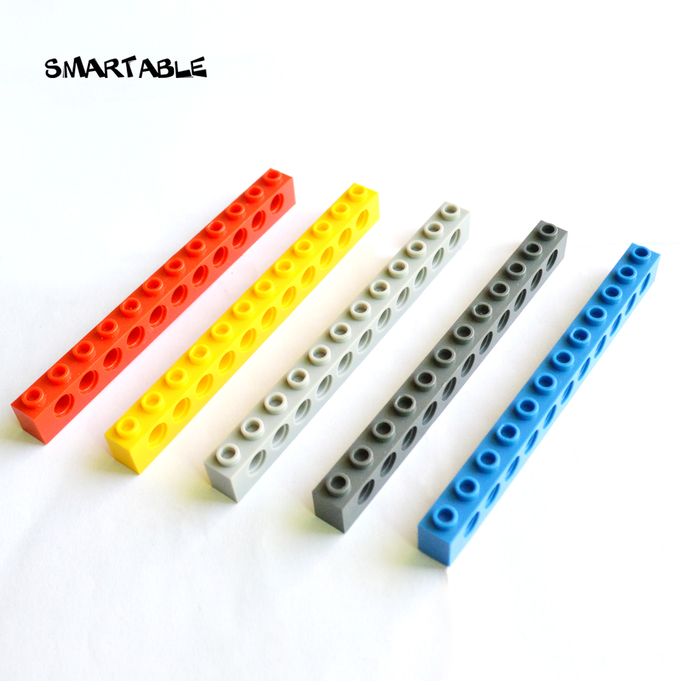 Smartable Technic Brick 1x12 with Holes Building Blocks MOC Parts Creative Toys Compatible 3895 Technic MOC Toys 24pcs/lot image