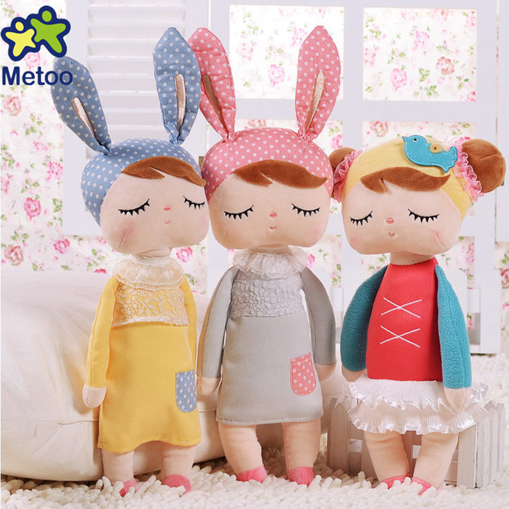 Hot Sale Genuine Metoo Angela Rabbit Dolls Bunny Baby Plush Toy Cute Lovely Stuffed Toys Kids Girls Birthday/Christmas Gift hot sale cute dolls 60cm oblong animals pillow panda stuffed nanoparticle elephant plush toys rabbit cushion birthday gift