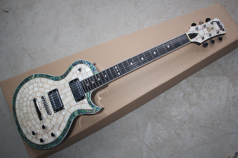 Best Genuine Brand poger Standard LP CUSTOM Electric Guitar LP Piano Shell Inlay TOP Multi custom electric guitar