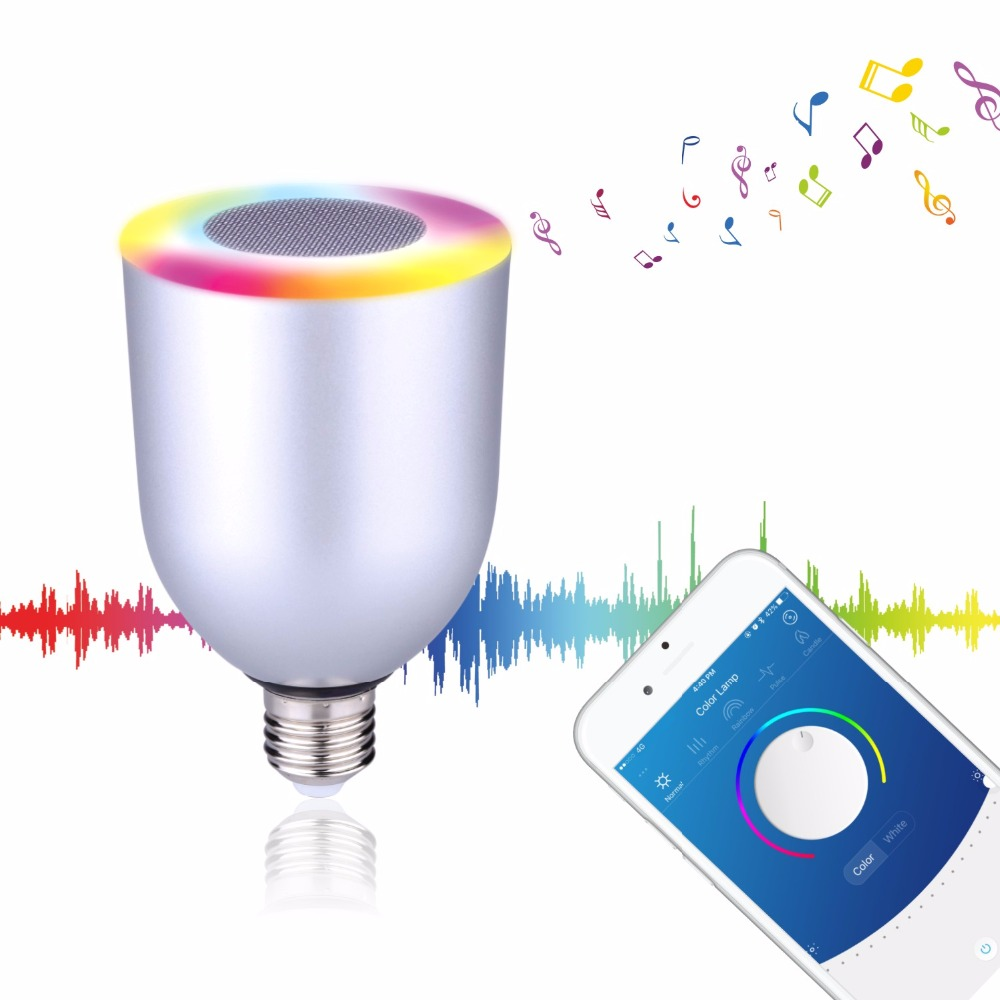 Speaker bluetooth LED RGB Light Music Large Bulb Lamp Color Changing via WiFi App Control mp3 player wireless bluetooth speaker jakcom blm colorful led music desk lamp bluetooth speaker touch switch app control