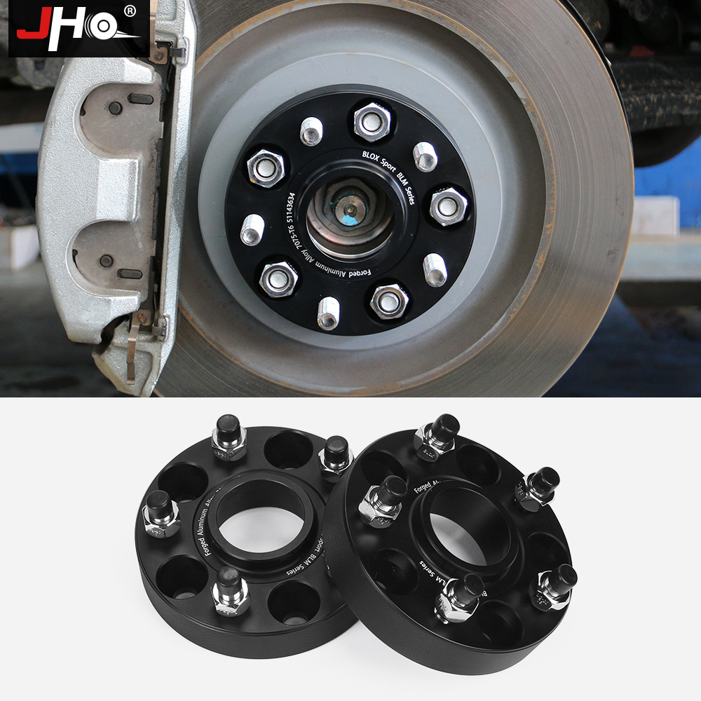 JHO 4x Forged Aluminum Alloy 7075-T6 30mm Hub Spacer for Wheels Flange Tire Widen Gasket For Ford Explorer 2013-2018 Car Styling 2pcs universal aluminum alloy 4 and 5 lug 5mm thickness wheel spacer gasket for car auto
