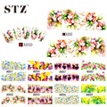 STZ 48 designs Mixed 2016 New Nail Sticker Water Transfer Flowers DIY Tips Beauty Manicure Nail Art Decorations Sets A049-096