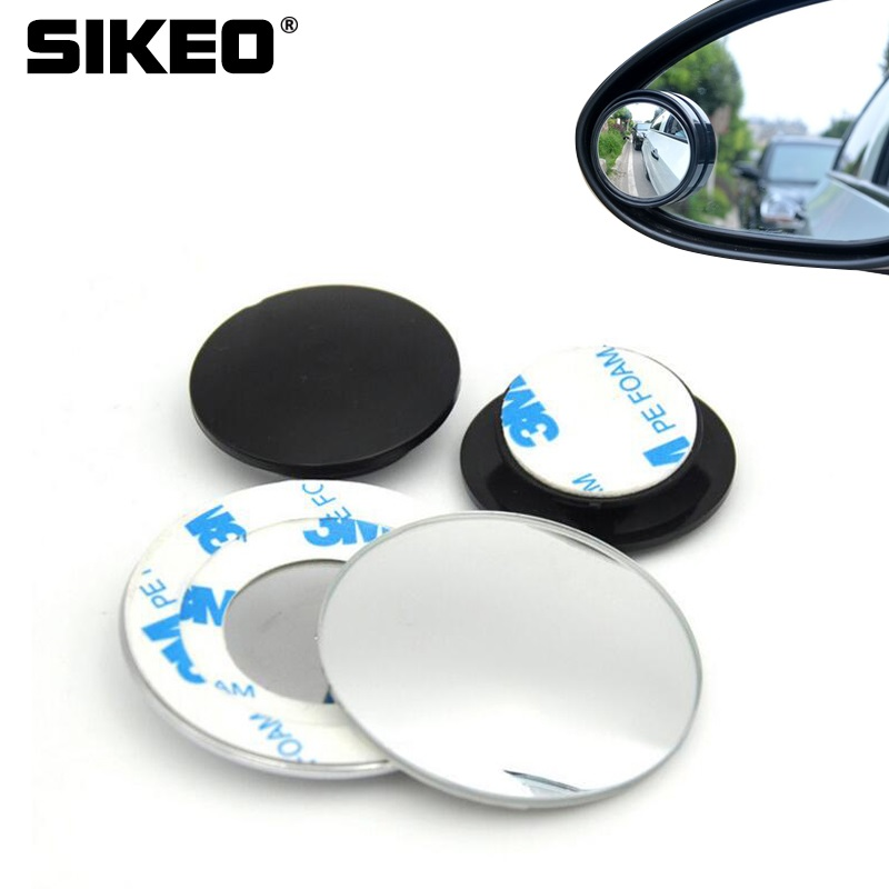 1pc HD 360 Degree Wide Angle Adjustable Car Rear View Convex Mirror Auto Rearview Mirror Vehicle Blind Spot Rimless Mirrors 2 in 1 car blind spot mirror wide angle mirror 360 rotation adjustable convex rear view mirror view front wheel car mirror