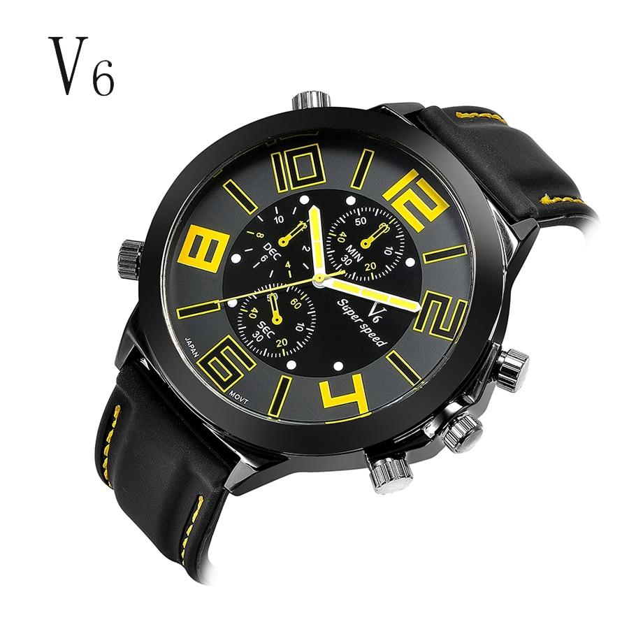 Brand Sport Military Watches Fashion Casual Quartz Watch Rubber Analog Men 2016 New V6 Luxury Wrist Watch Relogio Masculino