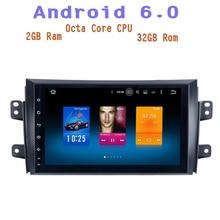 Octa Core android 6.0 Car radio gps for suzuki sx4 2006-2011 with 2g ram wifi 4g usb Stereo Auto Radio multimedia Stere sat