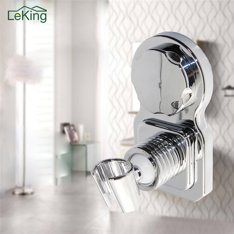 Bathroom Adjustable Shower Head Holder Rack Eco Friendly ABS Suction Cup Wall Mounted Shower Holder Bathroom Accessories цена 2017
