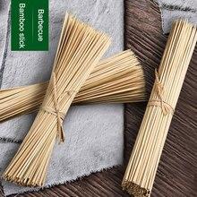 Прочный шампур из бамбуковых палочек для барбекю Фруктовый Шашлык Из Натурального Дерева 25 см палочки для барбекю 66CY