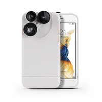 Photographer Touring Accessories 2X Fish Eye Wide Angle Macro 4 In 1 Camera Lens Phone Case