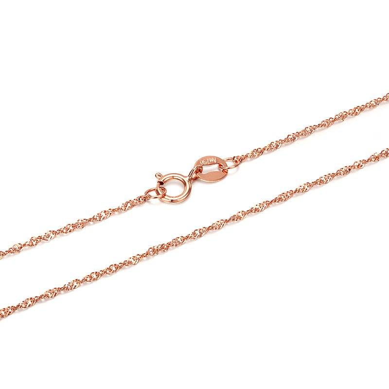 GCZQ 100% véritable collier d'ondulation d'eau 18 K chaîne en or pur collier en or pour femmes collier de longueur réglable - 2